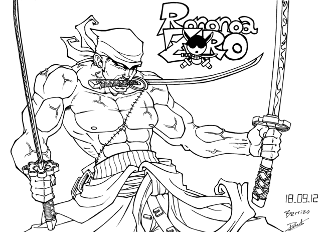 Supafan union gallery style 1898 - One piece dessin zoro ...